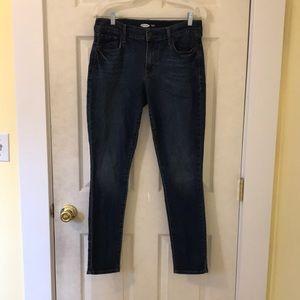 old navy dark wash skinny jeans